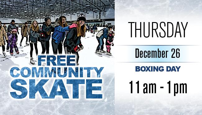 Free Community Skate Boxing Day